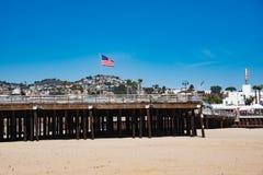 Пристань пляжа Pismo Стоковые Изображения RF