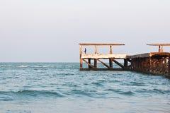 Пристань рыбной ловли для удить Стоковые Изображения RF