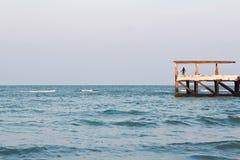 Пристань рыбной ловли для удить Стоковое Изображение RF