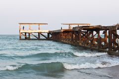 Пристань рыбной ловли для удить Стоковые Фото