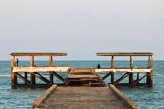 Пристань рыбной ловли для удить Стоковое Изображение