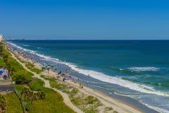 Пристань рыбной ловли Virginia Beach и променад, Virginia Beach, Вирджиния стоковое изображение rf