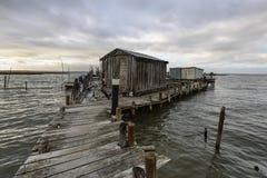 Пристань рыбной ловли artesanal Carrasqueira Стоковое Фото