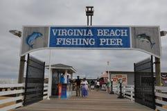 Пристань рыбной ловли Virginia Beach стоковая фотография
