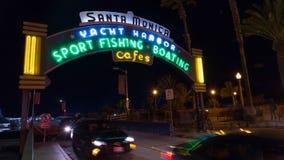 Пристань Санта-Моника, промежуток времени Калифорнии сток-видео