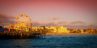 Пристань Санта-Моника Стоковое Изображение RF