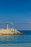 Пристань с взглядом океана Стоковые Изображения RF