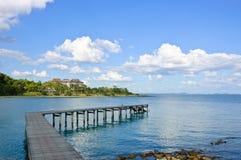 пристань Таиланд деревянный Стоковое фото RF