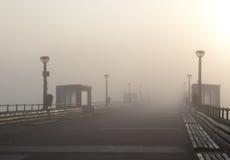 пристань тумана дела стоковые фотографии rf