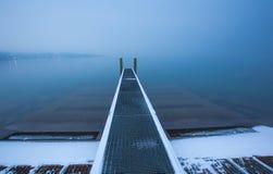 Пристань шлюпки Женевы озера Стоковая Фотография