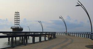 Пристань Burlington, Канада на пасмурный день 4K видеоматериал