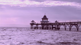 Пристань Clevedon, Великобритания Стоковые Изображения RF