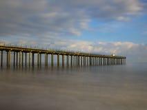 Пристань Felixstowe в солнечности Стоковое Изображение RF