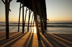 пристань kure пляжа Стоковая Фотография RF