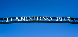 Пристань Llandudno Стоковые Изображения RF