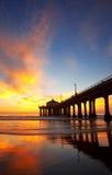 пристань manhattan пляжа Стоковое Изображение RF