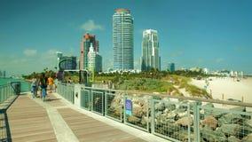 Пристань Miami Beach южная Pointe видеоматериал