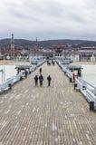 Пристань Molo Sopot в городе Sopot, Польши стоковые фото