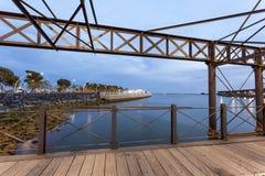 Пристань Muelle del Tinto в Уэльве, Испании Стоковая Фотография