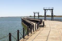 Пристань Muelle del Tinto в Уэльве, Испании Стоковые Изображения