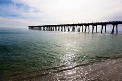 Пристань Pensacola при солнце светя до конца Стоковые Изображения