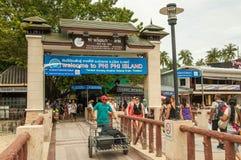 Пристань Phi Phi Стоковые Фото