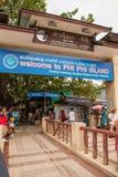 Пристань Phi Phi Стоковое Фото