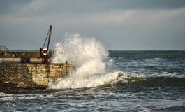 Пристань Portrush в спокойном дне Стоковые Изображения
