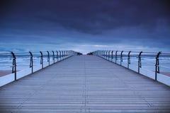 Пристань Saltburn на зоре Стоковые Фотографии RF