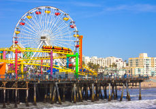 Пристань Santa Monica Стоковое фото RF
