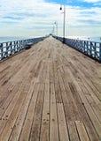 Пристань Shorncliffe в солнечности Стоковая Фотография RF
