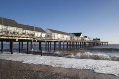 Пристань Southwold, суффольк, Англия Стоковое фото RF