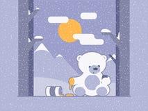 Пристрастившийся медведь иллюстрация штока