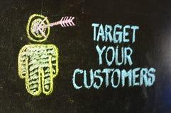 Пристрелйте ваших клиентов Стоковое Фото