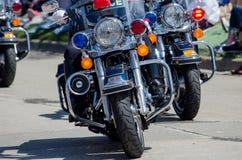 Присутствие полиции на мотоциклах Стоковые Фотографии RF