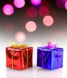 Присутствующие коробки на рождестве Стоковое Изображение