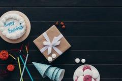 Присутствующие крышки коробки и дня рождения Стоковое Изображение