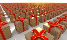 Присутствующим изображение коробки произведенное компьютером стоковые изображения