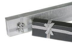 2 присутствующих коробки на белизне Стоковое фото RF