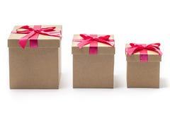 3 присутствующих коробки - фото запаса Стоковая Фотография RF