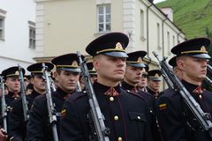 Присягать-в литовской военной академии стоковая фотография