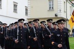 Присягать-в литовской военной академии стоковые изображения rf