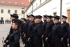 Присягать-в литовской военной академии стоковые изображения