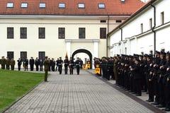 Присягать-в литовской военной академии стоковая фотография rf