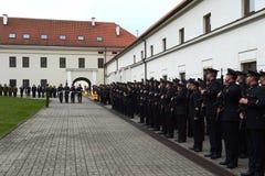 Присягать-в литовской военной академии стоковое фото