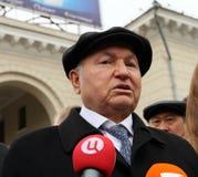 присяжный мэр moscow luzhkov Стоковая Фотография RF