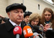 присяжный мэр moscow luzhkov Стоковое фото RF