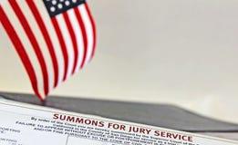 присяжный summons Стоковые Изображения RF