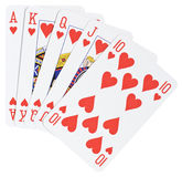 приток вручает покер королевский Стоковое Изображение RF