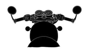 Притяжка вектора дизайна руля велосипеда плоская стоковые изображения rf